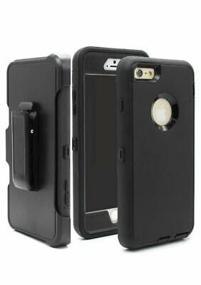 Black for all Apple iPhone Case Cover w/(Clip fits Otterbox Defender) NEW