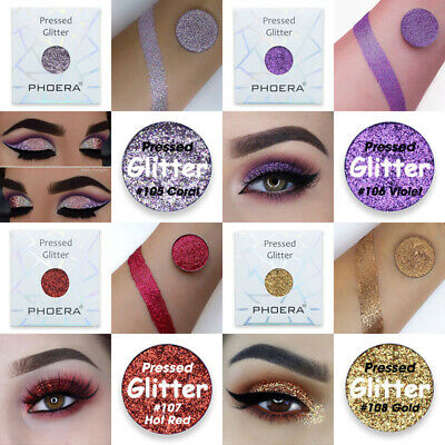 PHOERA Eyeshadow Single Pressed Pigment Shimmer Matte Pressed Glitter Makeup-