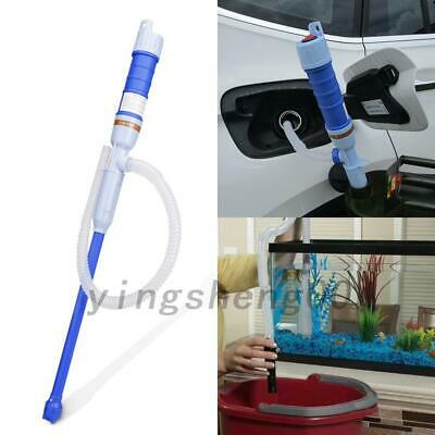 Electric Liquid Fuel Syphon Pump Automatic Transfer Gas Oil Water Battery Supply