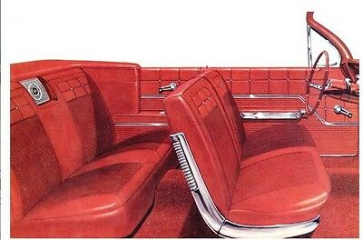 1962 Chevy Impala Front Split Bench & Rear Seat Cover