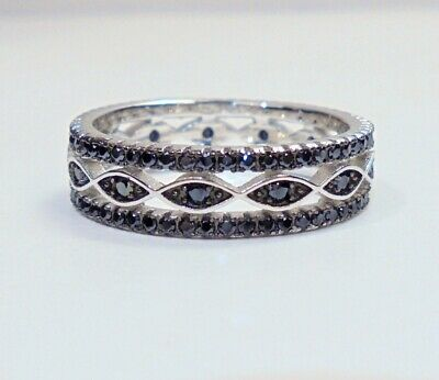 fe464aad0 FZN CN STERLING Silver 925 Cocktail Ring WITH DIAMOND STONES Sz 7 ...