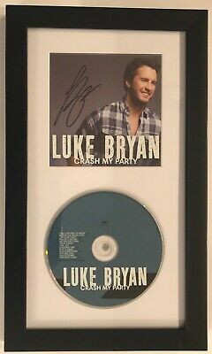 "LUKE BRYAN signed FRAMED ""Crash My Party"" CD cover w/ CD NEW Autographed JSA COA"