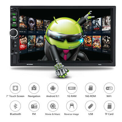 """2DIN Android Car Stereo MP5 Player Radio 7"""" Touch Screen GPS Navigation WIFI"""