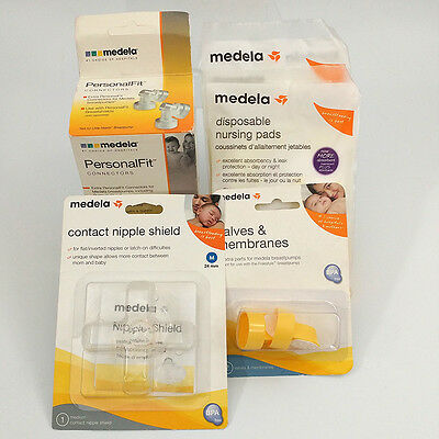 Medela Nipple Cover Valves Nursing Pads Connectors NEW Breasfeeding Supplies
