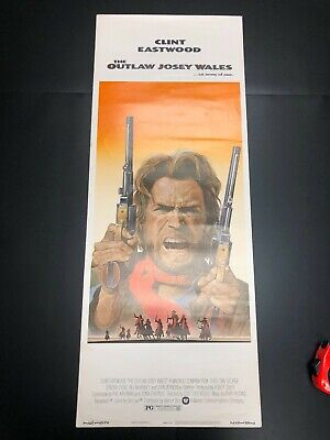 """The Outlaw Josey Wales (1976) Original Insert Movie Poster - 14"""" x 36"""" EX+"""