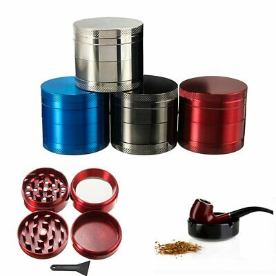 Red Tobacco Herb Spice Grinder 4 Piece Herbal Alloy Smoke Metal Chromium Crusher