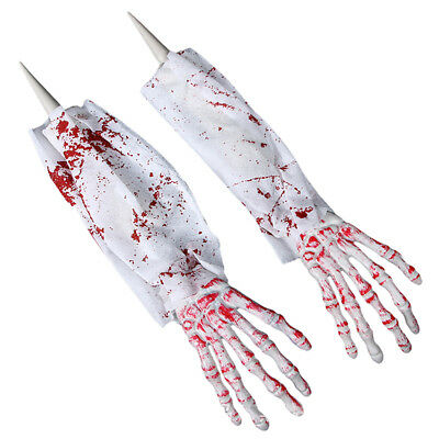 1 pair Bloody Hand Halloween Ghost White Halloween Party Horror Scary Halloween