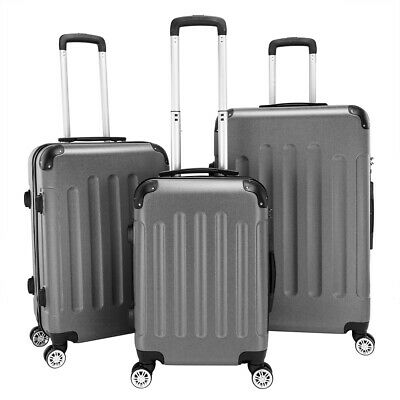 """High Quality 3Pcs 20""""24""""28"""" Luggage Set ABS Trolley Spinner Suitcase Hard Shell"""