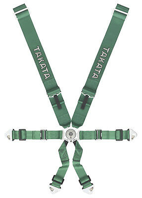 FIA Takata Race 3x2 Safety Harness for Race Rally GREEN 8853