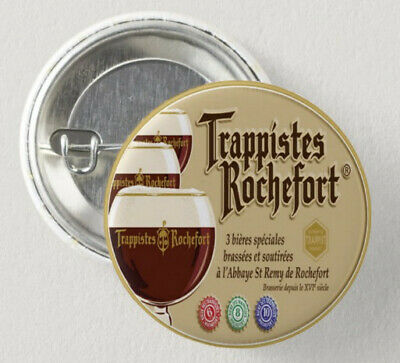 4 Trappistes Rochefort (bière) Pin Button Badge Ø38mm