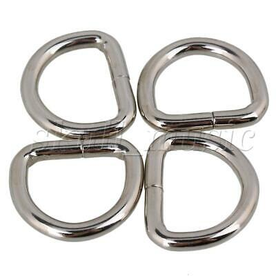 20x Silver Heavy Duty Metal D Rings Buckles for Webbing Hand Bags Leather Craft