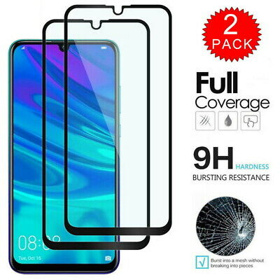 9H Full Cover Film Tempered Glass Screen Protector For Huawei Y7 Y9 P Smart 2019