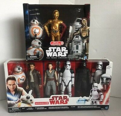 Star Wars  Last Jedi 6 Pak & Force Awakens 3 Pak Action Figures-Target Exclusive