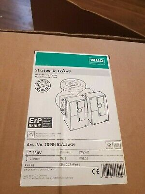 BRAND NEW Wilo Twin Circulating Pump STRATOS D 32/1-8