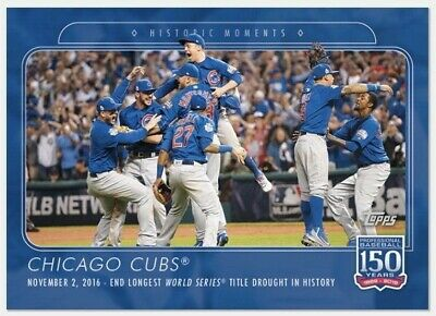 2019 Topps 150 Years of Baseball #32 Chicago Cubs World Series Win PR: 1,058