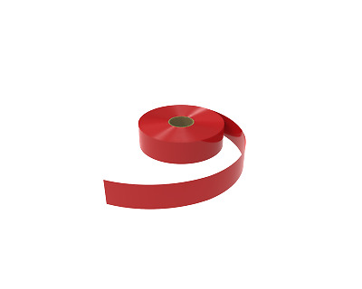 Red Shelf Edge Insert Strip 39mm High Strips 100 Meter Roll - CLEARANCE