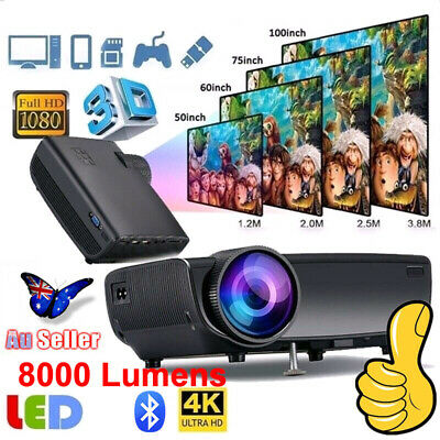 3D Wireless projector - HD 1080p 4.0 inch LCD display Wifi Portable Projection