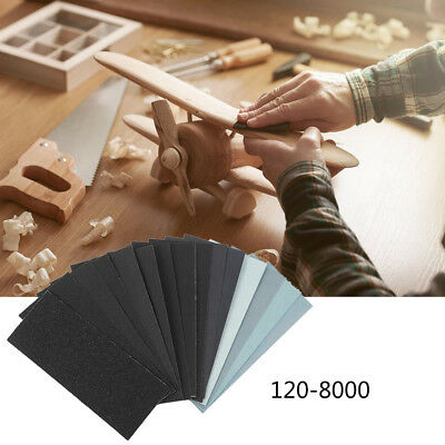 Wet and Dry Sandpaper Any Grit 150-8000 High Quality Sanding Paper Abrasive Acc