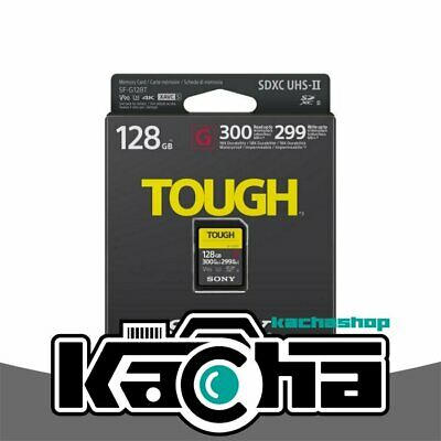 NUOVO Sony 128GB SF-G Tough Series UHS-II SDXC Memory Card (SF-G128T)