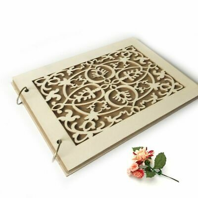 PERSONALIZED WEDDING GUEST Book Wooden Engraved Custom