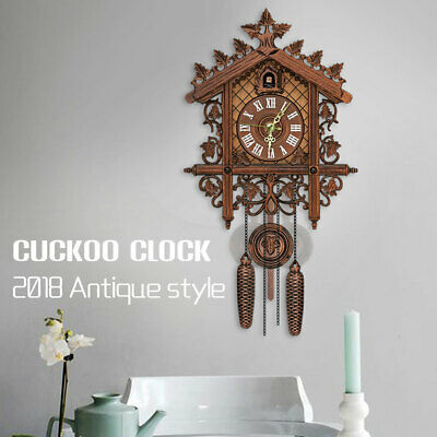 Vintage Wall Clock Cuckoo Wall Clock Battery Operated 6 Inch Handcrafted Decor