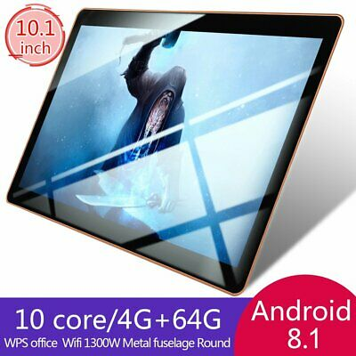 10.1 pollici 4GB+64GB Tablet PC bluetooth Android 8.1 Octa 10 Core WIFI 2 SIM CT