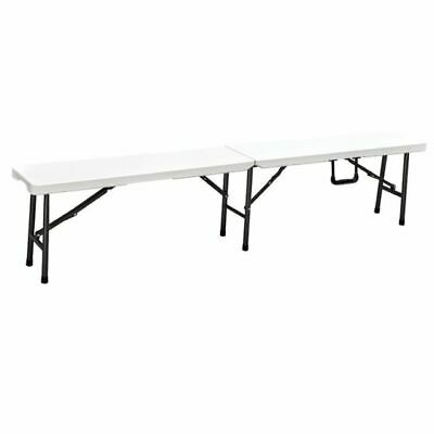 Blow Moulded 6ft Heavy Duty Portable Folding Bench with Carry Handle