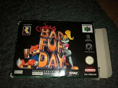 Conker's Bad Fur Day BOXED COMPLETE for N64 Nintendo Video Game