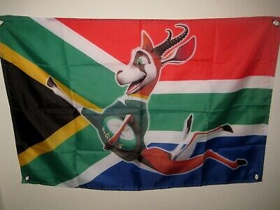 Springbok Rugby Flag - South Africa Flag - England  Rugby World Cup - Scotland
