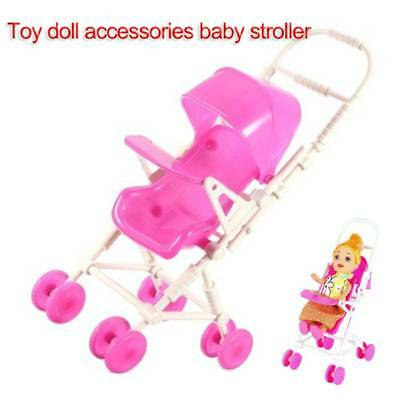 Simulation Pushchair Toy w/ Baby Doll Stroller Accessory Kids Outdoor Play toy