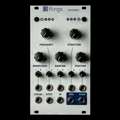 Mutable Instruments Rings Eurorack Synth Resonator Modul Neu (Weiß)