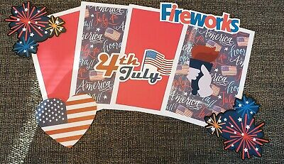 """6pcs Approx.4/""""x 2/"""" Fourth Of July•Red•White•Independence FIRECRACKER Die-Cuts"""