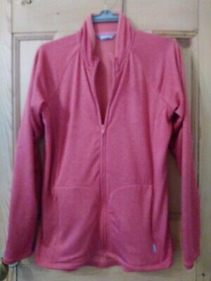 Rohan's women's active zipped top (Nanogrid jacket) in salmon, Size 12
