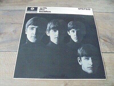 The Beatles - With The Beatles 1963 UK LP PARLOPHONE STEREO B&Y w/DOMINION CR.