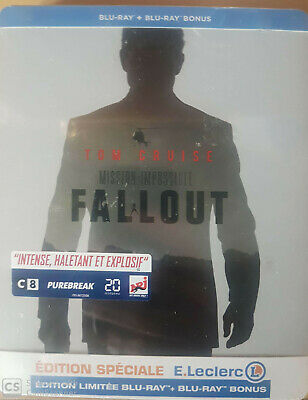 Fallout Mission Impossible Steelbook  Blu Ray Neuf Sous Cellophane