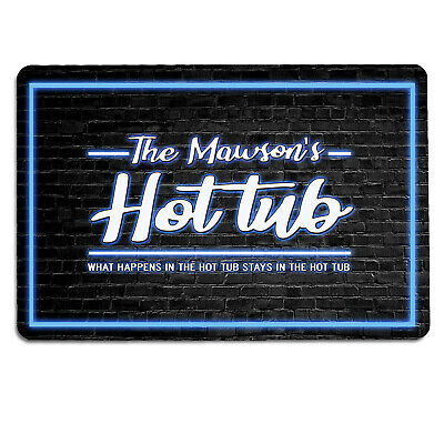 Adults Only 5x7 Galvinized Metal Retro Look Hot Tub Man Cave Bar Club Pool sign