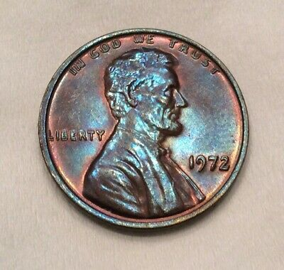 1972/72 DDO Lincoln Memorial Cent - Double Die w. Gorgeous Hues #10522
