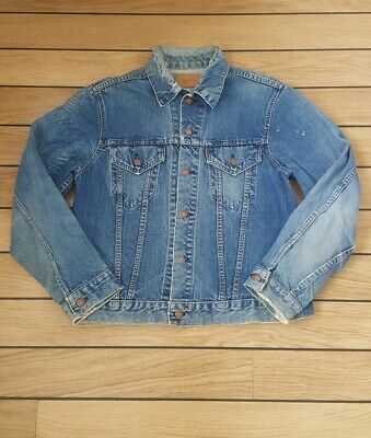 Genuine Late 1960s Vintage Big E Levis Type 3 Trucker Jacket Size 40/42 -  M/L