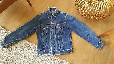 "Genuine 1960's Vintage Levi's TYPE 3 Trucker BIG E DENIM JACKET 38"" Small #525"