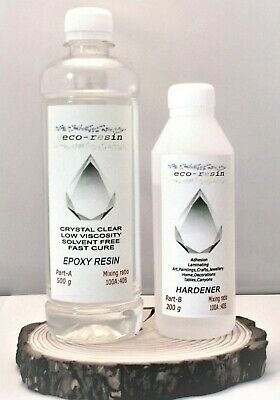 Crystal Clear Epoxy Resin 700g Transparent Low Viscosity  Fast Cure UV Resistant