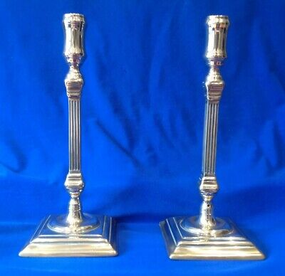A Good Pair of 18 th Century English Candlesticks