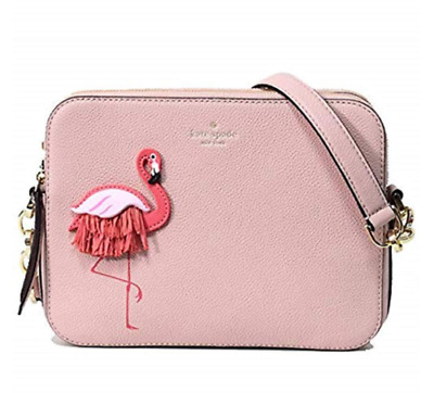 Kate Spade New York By The Pool Flamingo Camera Crossbody Shoulder Bag New NWT
