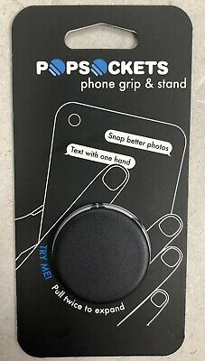 NEW Pop Sockets Single Phone Grip PopSocket Universal Phone Holder BLACK 101000