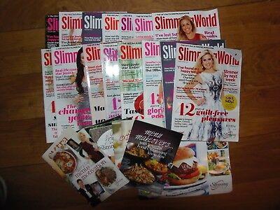 Bundle of 15 Slimming World magazines and booklets, weightloss, food optimising