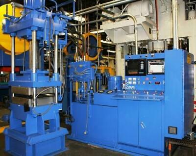 WABASH HYDRAULIC PRESS 50 ton electric heated / water cooled