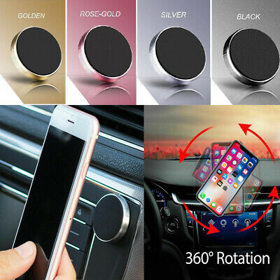 UK Universal  In Car Magnetic Phone Holder Fits Dashboard Mount Various Colours