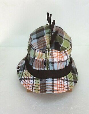 GYMBOREE SURF ROCKS PLAID BUCKET HAT 0 12 24 2T 3T 4T 5T NWT-OT