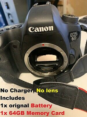 """Canon EOS 6D Digital SLR Camera, HD 1080p, 20.2MP, GPS, 3"""" LCD Screen, Body Only"""