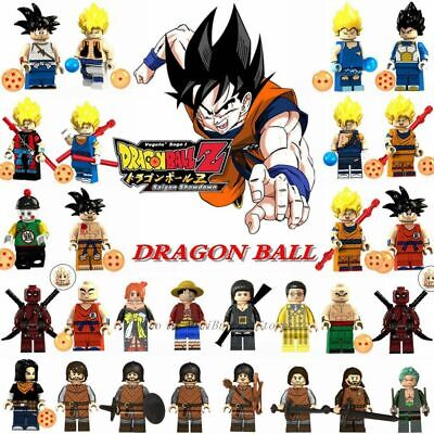 LegoDragon Ball Figure Z Son Goku Vegeta Master Roshi Krillin Minifigures Mini F
