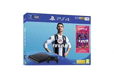 PlayStation 4 (1TB) Black Console with FIFA 19 Ultimate Tea (UK IMPORT) GAME NEW